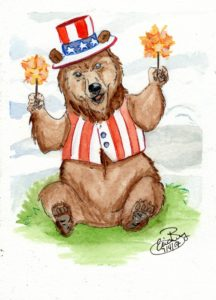 Sparkle Bear: Watercolor