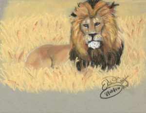 His Majesty:  Chalk Pastel