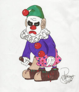Angry Clown:  Marker