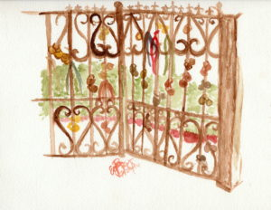 Gate: Watercolor