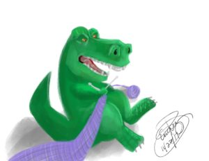 T-rex Knitting: Digital